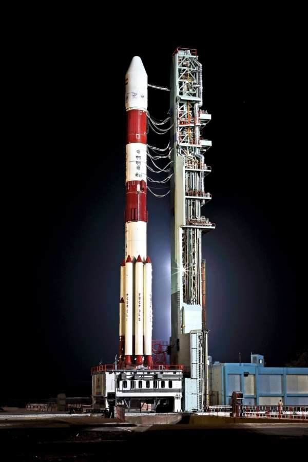 Sriharikota: PSLV-C41 that is scheduled to launch 1,425-kg IRNSS-1L navigation satellite from First Launch Pad (FLP) of SDSC SHAR, Sriharikota, 105 km away from Chennai; on April 11, 2018. It will blast off on Thursday at around 4.04 a.m. (Photo: IANS/ISRO) by .
