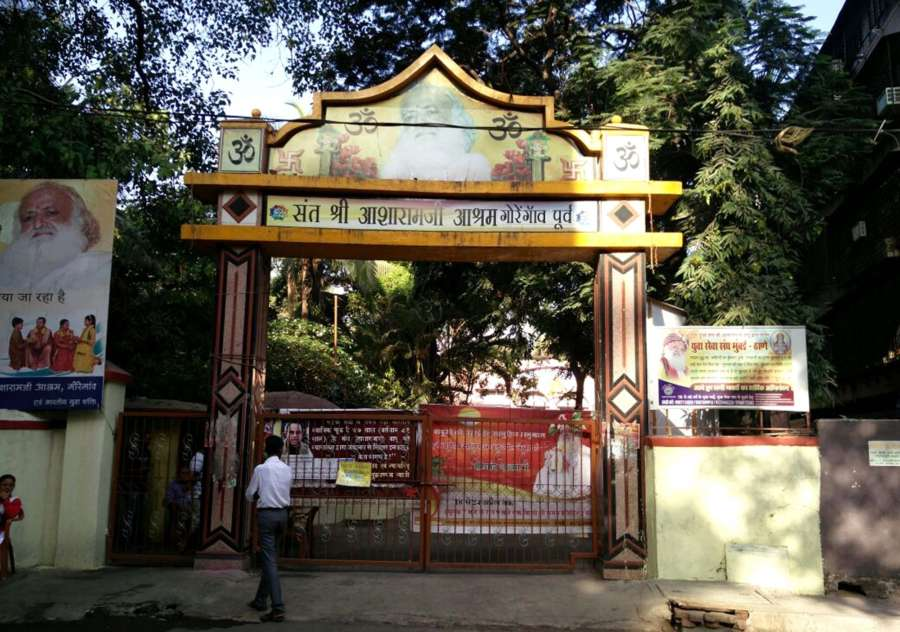Mumbai: A view of self-styled godman Asaram Bapu's ashram in Mumbai, on April 25, 2018. Asaram Bapu was on Wednesday convicted by a Jodhpur court for raping a minor girl at his ashram here in Rajasthan in 2013 and sentenced to a life term. The judgment was pronounced by Special Judge for Scheduled Caste and Scheduled Tribe cases, Madhu Sudan Sharma, inside the Jodhpur Central Jail, where Asaram Bapu is lodged. (Photo: IANS) by .
