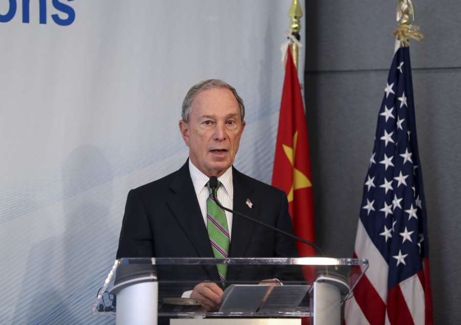 NEW YORK, June 14, 2017 (Xinhua) -- Former New York City mayor Michael Bloomberg delivers a speech at the High-level Dialogue on U.S.-China Economic Relations in New York, the United States, on June 14, 2017. More than 30 scholars from leading think-tanks in both China and the United States gathered here on Wednesday to discuss the bilateral economic and trade relationship between the world's two largest economies. (Xinhua/Wang Ying/IANS) by .