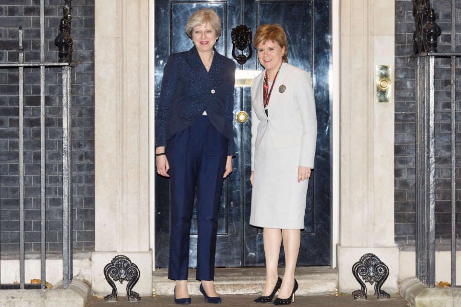 BRITAIN-LONDON-THERESA MAY-NICOLA STURGEON by .