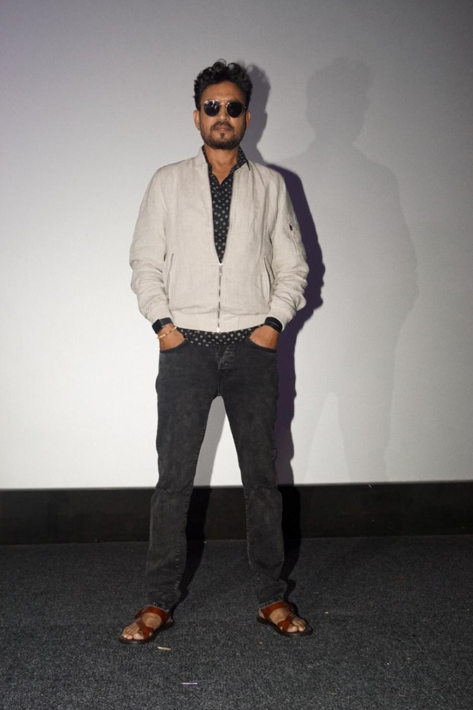 """Mumbai: Actor Irrfan Khan at the special screening of film """"Qarib Qarib Singlle"""" in Mumbai on Nov 10, 2017.(Photo: IANS) by ."""