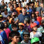 Jaipur: Former Australian cricketer Brett Lee during a 'stop honking' awareness programme in Jaipur, on June 1, 2018. (Photo: Ravi Shankar Vyas/IANS) by .