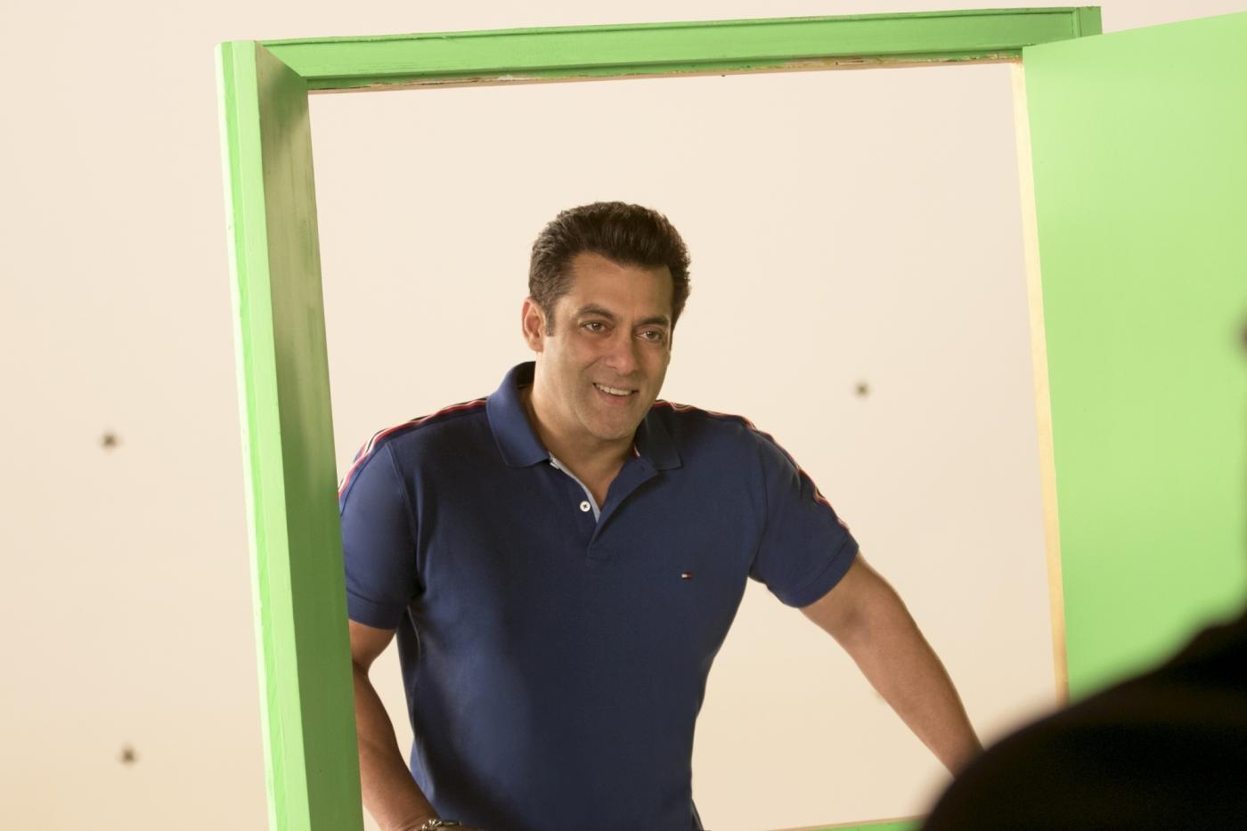 "Mumbai: Actor Salman Khan during the shooting of a promo for his upcoming television show ""10 Ka Dum"" in Mumbai on Feb 14, 2018. (Photo: IANS) by ."