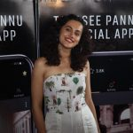 """Actress Taapsee Pannu at the launch of her own mobile application - """"Taapsee Pannu official App"""" in Mumbai. by ."""