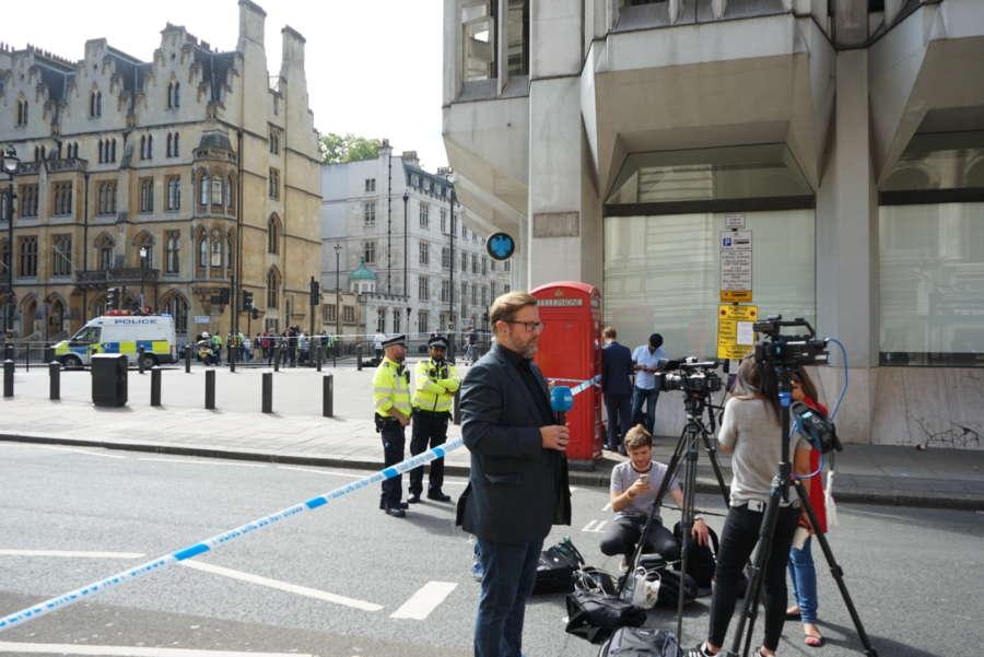 BRITAIN-LONDON-PARLIAMENT-CAR CRASH by .