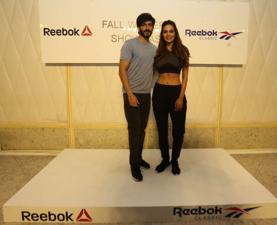 Fashionably fit Harshvardhan Kapoor and Esha Gupta at Reebok Fall Winter collection preview. by .