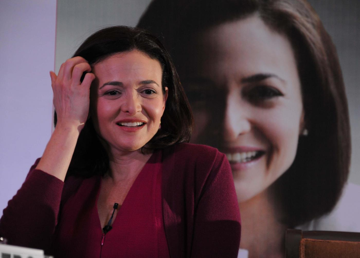 Facebook COO Sheryl Sandberg during a programme in New Delhi on July 2, 2014. (Photo: IANS) by .