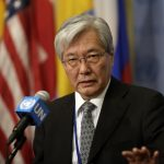 UNITED NATIONS, June 27, 2018 (Xinhua) -- Tadamichi Yamamoto, Special Representative of the United Nations Secretary-General and Head of the United Nations Assistance Mission in Afghanistan, speaks to journalists on the situation in Afghanistan, at the UN headquarters in New York, June 26, 2018. Speakers attending a UN Security Council meeting on the situation in Afghanistan said Tuesday that there were unprecedented opportunities for Afghanistan to seek peace and consolidate its political foundation. (Xinhua/Li Muzi/IANS) by .