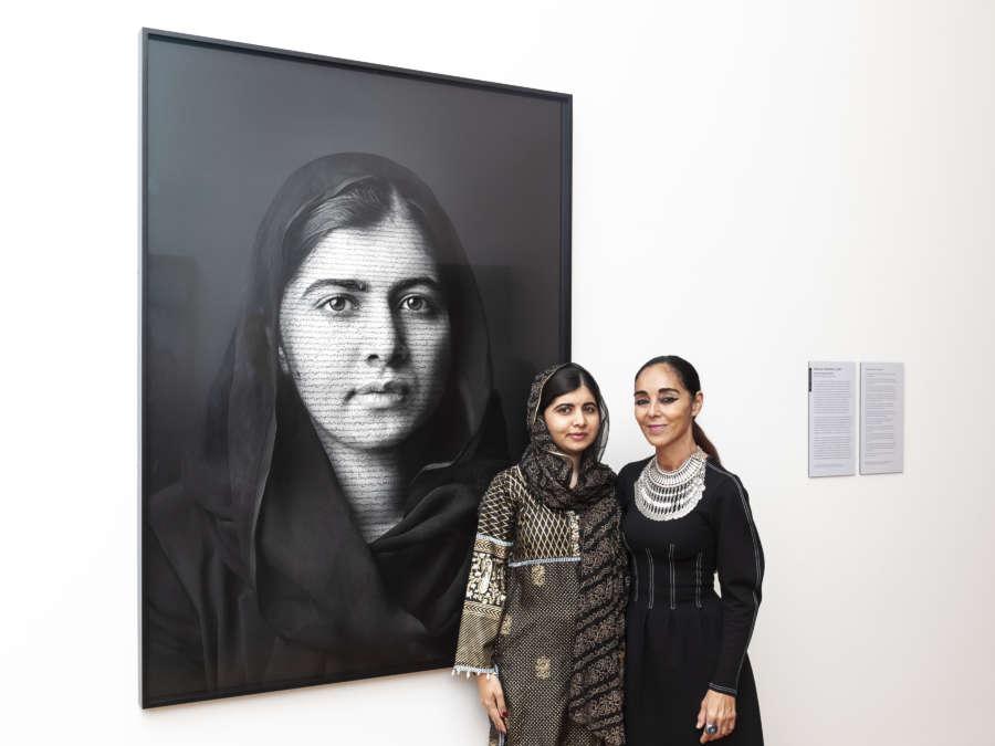 Malala Yousafzai Portrait Unveiling by JORGE HERRERA.