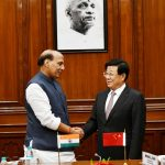 New Delhi: Union Home Minister Rajnath Singh meets China's Public Security Minister Zhao Kezhi in New Delhi, on Oct 22, 2018. (Photo: IANS/PIB) by .