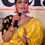 """Kolkata: Actress Kajol Devgn addresses during a press conference to promote her upcoming film """"Helicopter Eela"""" in Kolkata, on Oct 9, 2018. (Photo: IANS) by ."""