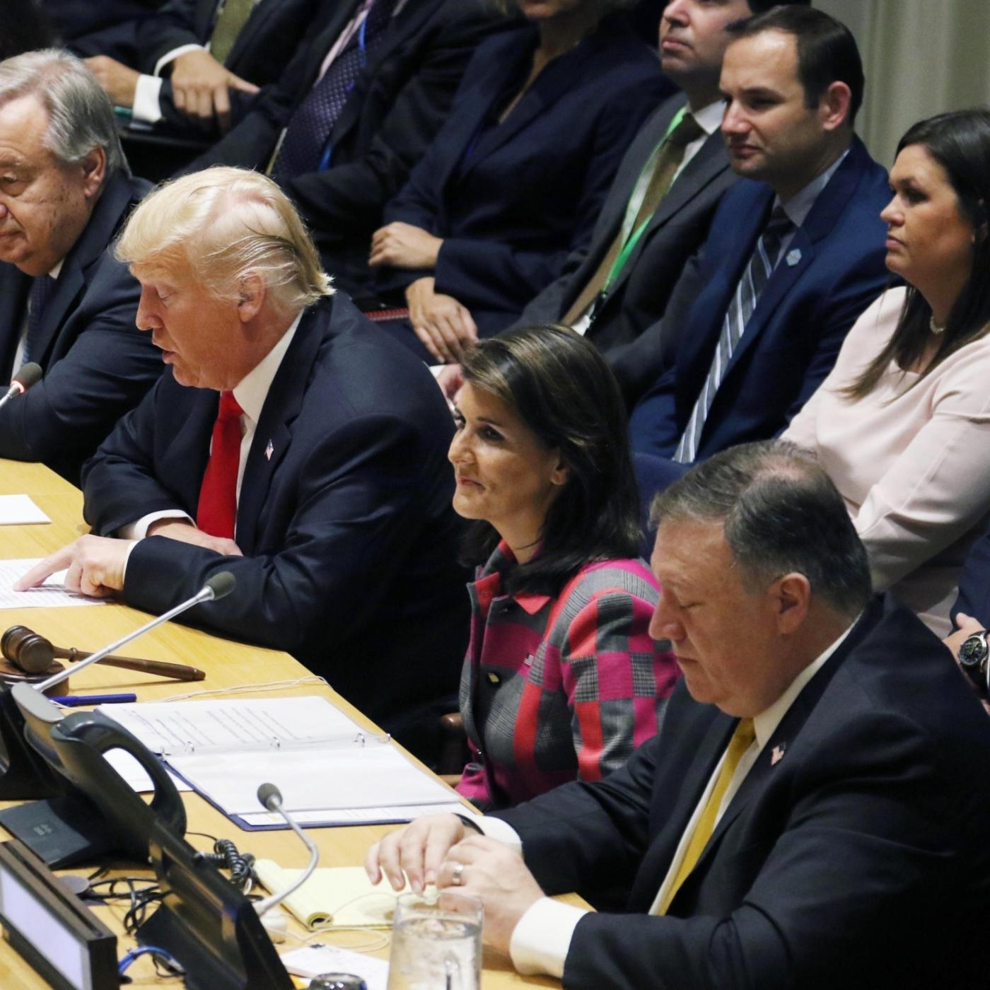 US President Donald Trump and Nikki Haley. (File Photo: IANS) by .
