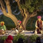 Traditional Kamaicha being played by a master of the instrument, Dapu Khan on Day 2 of the festival on October 25. by .