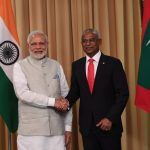 Male: Prime Minister Narendra Modi felicitates Ibrahim Mohamed Solih on his assumption of office as the 7th President of Maldives in Male, Maldives on Nov 17, 2018. (Photo: IANS/MEA) by .