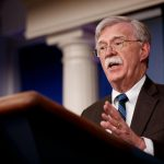 WASHINGTON, Nov. 27, 2018 (Xinhua) -- U.S. National Security Advisor John Bolton speaks at a press briefing at the White House in Washington D.C., the United States, on Nov. 27, 2018. John Bolton said on Tuesday that U.S. President Donald Trump and Saudi Crown Prince Mohammed bin Salman are not expected to hold a formal bilateral meeting during the Group of 20 (G20) summit in Argentina. (Xinhua/Ting Shen/IANS) by .