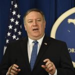 WASHINGTON D.C., Nov. 6, 2018 (Xinhua) -- U.S. Secretary of State Mike Pompeo speaks during a press conference in Washington D.C. Nov. 5, 2018. The U.S. reimposed sanctions against Iran's oil exports, which had been lifted under the landmark 2015 nuclear agreement to curtail Iran's nuclear program. However, Washington granted temporary waivers to allow eight major buyers to keep importing Iranian oil for some time. (Xinhua/Liu Jie/IANS) by .