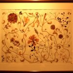 Pressed flower works by Hari Tandon. (Photo Source: India Habitat Centre) by .