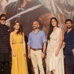"Mumbai: Actors Amitabh Bachchan, Aamir Khan, Fatima Sana Shaikh, Katrina Kaif and director Vijay Krishna Acharya at the trailer launch of their upcoming film ""Thugs of Hindostan"" in Mumbai on Sept 27, 2018. (Photo: IANS) by ."