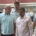 New Delhi: Aam Aadmi Party (AAP) leaders - Delhi Chief Minister Arvind Kejriwal, Deputy Chief Minister Manish Sisodia and spokesperson Raghav Chadda after meeting the Chief Election Commissioner (CEC) in New Delhi, on Nov 2, 2018. (Photo: IANS) by .