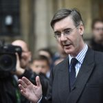 LONDON, Nov. 15, 2018 (Xinhua) -- Jacob Rees-Mogg, a member of the UK parliament and chairman of the European Research Group, speaks to the media outside the Houses of Parliament in London, Britain, on Nov. 15, 2018. Brexit-supporting Conservative MP Jacob Rees-Mogg sought a non-confidence vote over British Prime Minister Theresa May's draft agreement to leave the European Union (EU) in March 2019. (Xinhua/Stephen Chung/IANS) by .
