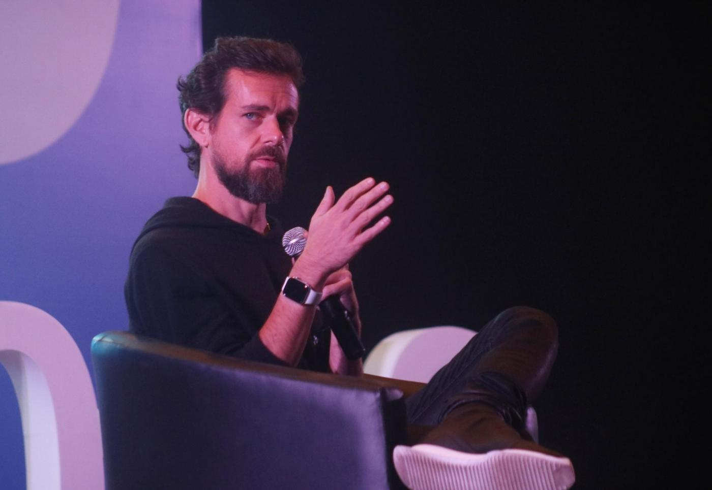 """New Delhi: Twitter Co-founder and CEO Jack Dorsey addresses the students of IIT Delhi at the launch of a """"youth initiative"""" on Nov 12, 2018. (Photo: IANS) by ."""