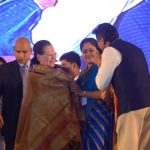 Medchal: UPA chairperson Sonia Gandhi and actor turned politician Vijayashanti Srinivas during a public meeting in Medchal, Medchal-Malkajgiri district, Telangana on Nov 23, 2018. (Photo: IANS) by .