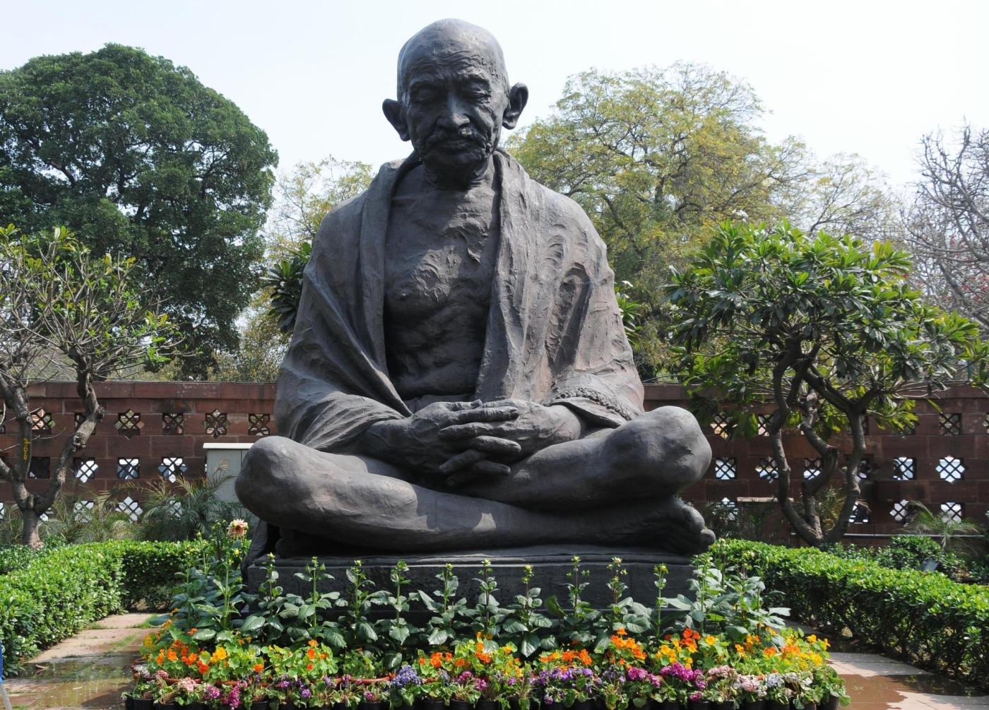 Mahatma Gandhi statue in the Parliament premises. (File Photo: IANS) by .