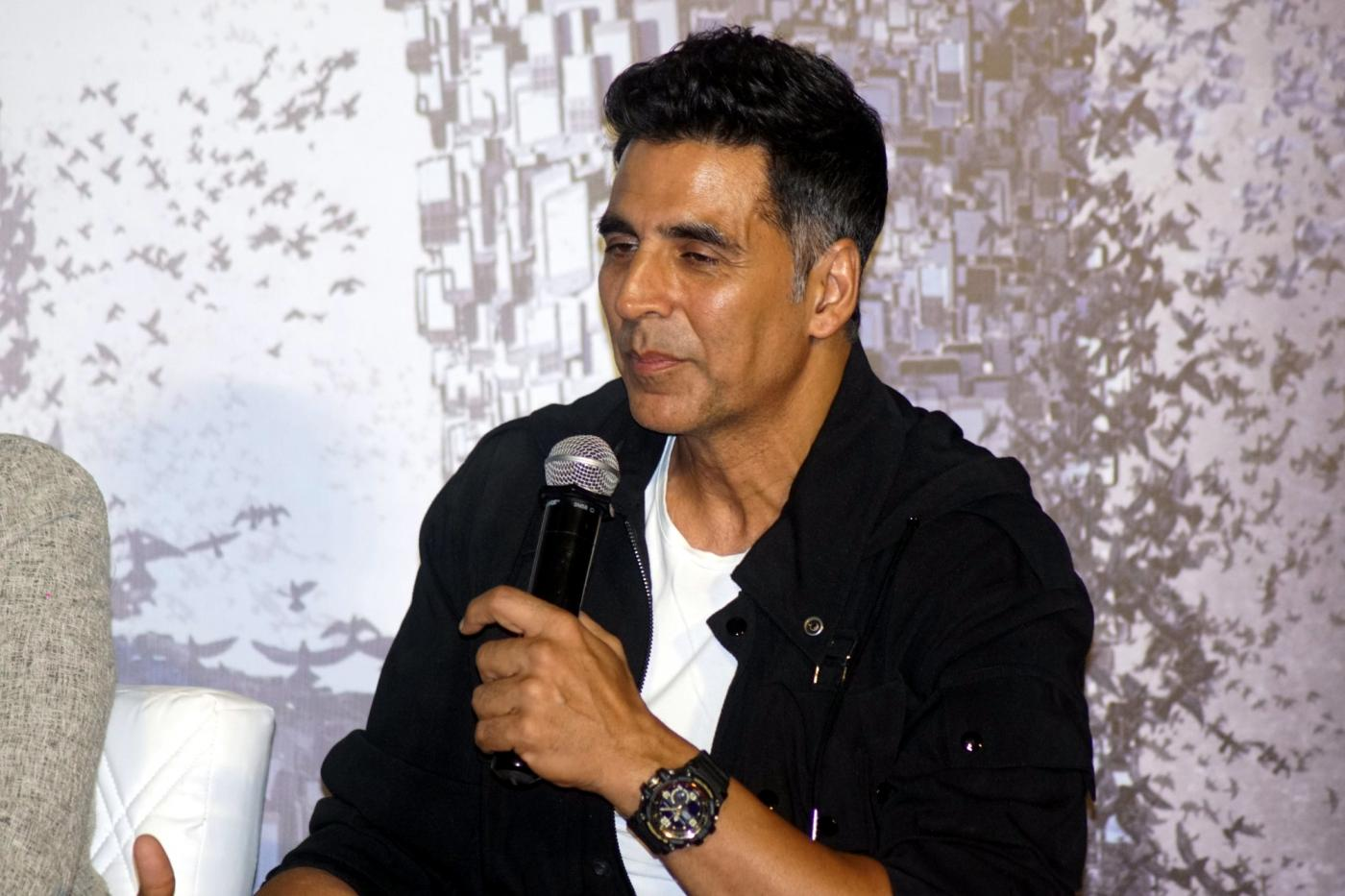 "Mumbai: Actor Akshay Kumar during a press conference to promote his upcoming film ""2.0"" in Mumbai on Nov 24, 2018. (Photo: IANS) by ."