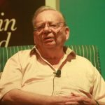 """New Delhi: Author Ruskin Bond at the launch of his autobiography - """"Lone Fox Dancing - My Autobiography"""" in New Delhi, on June 20, 2017. (Photo: IANS) by ."""