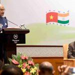Hanoi: President Ram Nath Kovind addresses at the Vietnam India Business Forum, in Hanoi, Vietnam, on Nov 19, 2018. (Photo: IANS/RB) by .