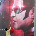 "Chennai: A Rajinikanth fan washes the ""2.0"" film poster as he celebrates the release of the film in Chennai, on Nov 29, 2018. (Photo: IANS) by ."