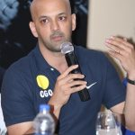 """New Delhi: Former hockey player Viren Rasquinha addresses during """"Powering the Olympic Gold Dream"""" - a programme organised by Genpact in New Delhi, on March 17, 2016. (Photo: IANS) by ."""