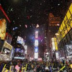 NEW YORK, Jan. 1, 2018 (Xinhua) -- People attend the New Year celebration at Times Square in New York, the United States, on Jan. 1, 2018. (Xinhua/Wang Ying/IANS) by .