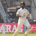 Kolkata: India's Cheteshwar Pujara on Day 5 of the first test match between India and Sri Lanka at Eden Gardens in Kolkata on Nov 20, 2017. (Photo: Surjeet Yadav/IANS) by .