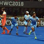 Bhubaneswar: Players in action during a Men's Hockey World Cup 2018 match between India and Netherlands at Kalinga Stadium in Bhubaneswar on Dec 12, 2018. (Photo: IANS) by .