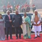 New Delhi: President Ram Nath Kovind with First Lady Savita Kovind and Prime Minister Narendra Modi welcomes Maldives President Ibrahim Mohamed Solih and his wife Fazna Ahmed during a ceremonial reception at the forecourt of Rashtrapati Bhawan in New Delhi on Dec. 17, 2018. (Photo: IANS) by .