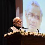 New Delhi: Prime Minister Narendra Modi addresses at the release of commemorative coins in the honour of Bharat Ratna Atal Bihari Vajpayee, in New Delhi on Dec 24, 2018.(Photo: IANS/PIB) by .