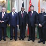 BUENOS AIRES, Nov. 30, 2018 (Xinhua) -- Chinese President Xi Jinping (2nd R), South African President Cyril Ramaphosa (3rd R), Brazilian President Michel Temer (1st L), Russian President Vladimir Putin (2nd L) and Indian Prime Minister Narendra Modi attend the informal meeting of the emerging economies' bloc BRICS in Buenos Aires, Argentina, Nov. 30, 2018. (Xinhua/Yao Dawei/IANS) by .