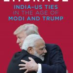 """Book cover of Varghese K. George's book """"Open Embrace: India-US ties in the Age of Modi and Trump"""". by ."""