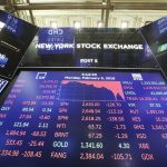 NEW YORK, Feb. 5, 2018 (Xinhua) -- An electronic screen displaying trading data is seen at the New York Stock Exchange in New York, the United States, on Feb. 5, 2018. U.S. stocks closed sharply lower on Monday, with the Dow plummeting 4.60 percent, as the market took a heavy hit from panic sales. (Xinhua/Wang Ying/IANS) by .