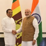 New Delhi: Prime Minister Narendra Modi during a bilateral meeting with Sri Lankan President Maithripala Sirisena, on the sidelines of International Solar Alliance (ISA) Summit, in New Delhi on March 11, 2018. (Photo: IANS/MEA) by .