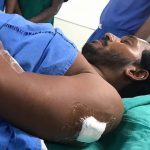 Visakhapatam: YSR Congress Party President Y.S. Jaganmohan Reddy at City Neuro Hospital after he was attacked with a knife by a young man who, according to the police, sneaked up to him with a request to take a selfie, on Oct 25, 2018. The attacker, identified as Jaripalli Srinivas, works as a waiter at a restaurant at the airport. A commandant of the Central Industrial Security Force (CISF) overpowered the attacker, who was handed over to police. (Photo: IANS) by .