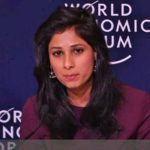 International Monetary Fund chief economist Gita Gopinath releases the World Economic Outlook Report Update in Davos on Monday, Jan. 21, 2019. (Photo: IMF/IANS) by .