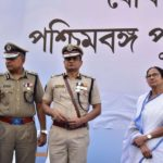 Kolkata: West Bengal Chief Minister Mamata Banerjee and Kolkata Police Commissioner Rajeev Kumar during the Joint Investiture ceremony of West Bengal Police and Kolkata Police, on Feb 4, 2019. (Photo: IANS) by .