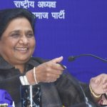 """Lucknow: BSP President Mayawati addresses at the release of her book """"A Travelogue of My Struggle-ridden Life and BSP Movement"""" in Lucknow, on Jan 15, 2019. (Photo: IANS) by ."""
