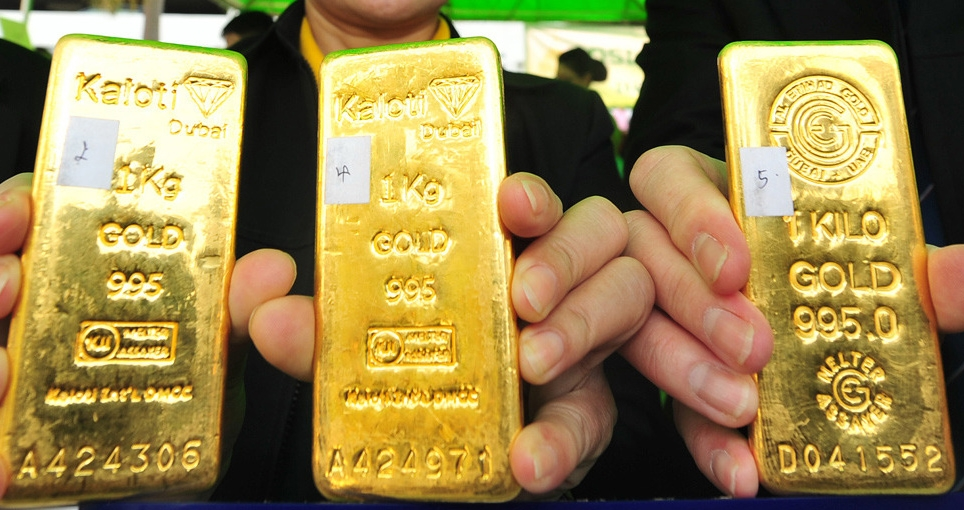 Gold bullions. (File Photos: Xinhua/Rachen Sageamsak/IANS) by .