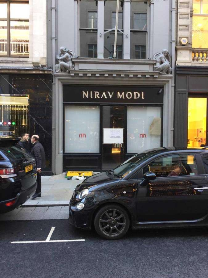 The shop that belonged to fugitive diamantaire Nirav Modi, in Old Bond Street, Mayfair, London and was closed down and seized in July 2018. by .