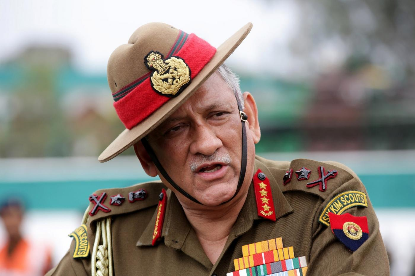 Pathankot: Indian Army chief General Bipin Rawat addresses during 'Year of Disabled Soldiers in Line of Duty' programme at Mamun military station in Punjab's Pathankot on Nov 12, 2018. (Photo: IANS) by .
