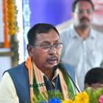 Agartala: Union Minister of State for Railways Rajen Gohain addresses at the flag-off ceremony of the Agartala-Deoghar Express Weekly train, at Agartala Railway Station, in Agartala on July 6, 2018. (Photo: IANS/PIB) by .