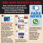 Facebook, WhatsApp turn fake news factories in India. (IANS Infographics) by .